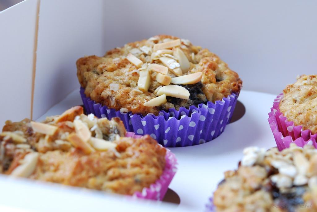 Earl-Grey-Haferflocken-Muffins mit Backpflaumen