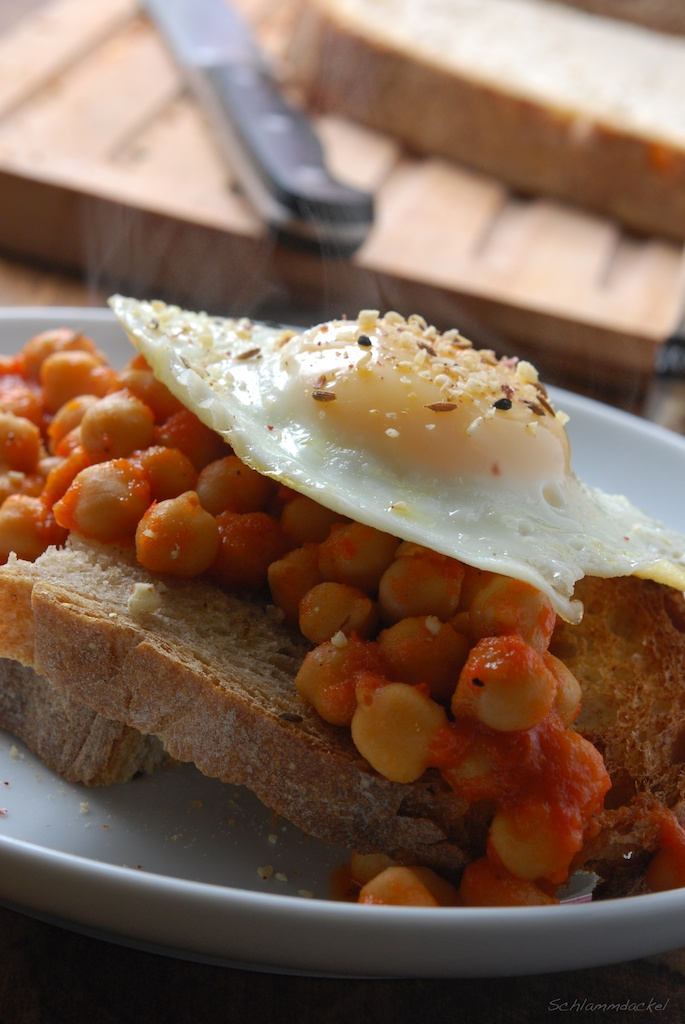 Chickpeas on Toast