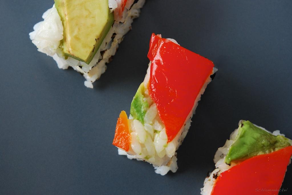 Gestreiftes Schicht-Sushi
