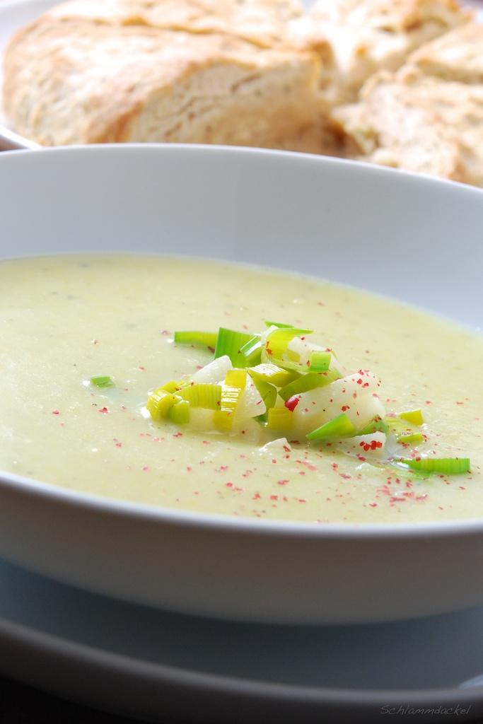 Kartoffel-Lauch-Suppe mit Ingwer